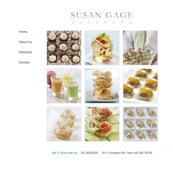 Susan Gage Caterers Website